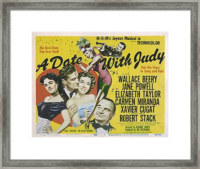 A Date With Judy, Elizabeth Taylor Framed Print by Everett