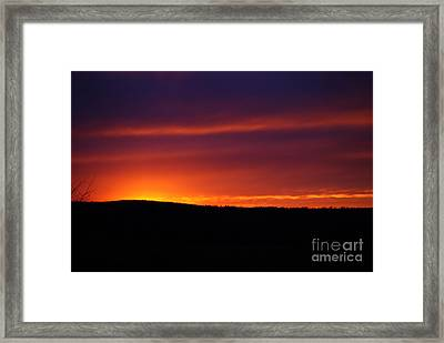 Framed Print featuring the photograph A Day Almost Ended by Julie Clements