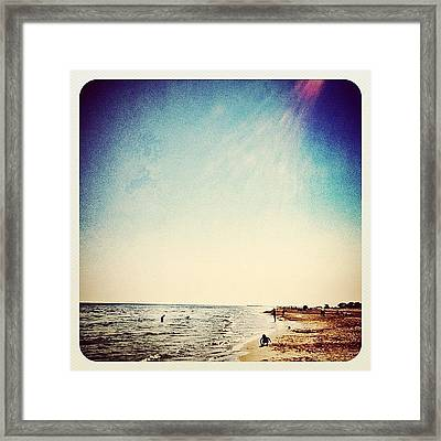 A Day At The #beach 2 Months Ago Framed Print by Wilbert Claessens