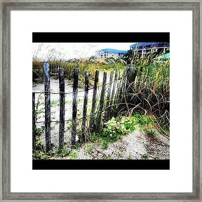 A Day At The Beach. Framed Print