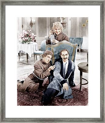 A Day At The Races, From Left Clockwise Framed Print by Everett