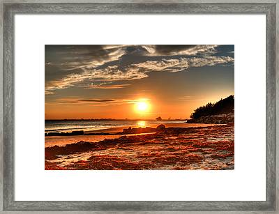 A Day Ends Over Charleston Framed Print