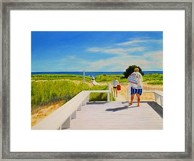 A Day For The Beach Framed Print