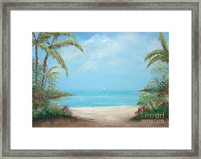 A Day In The Tropics Framed Print