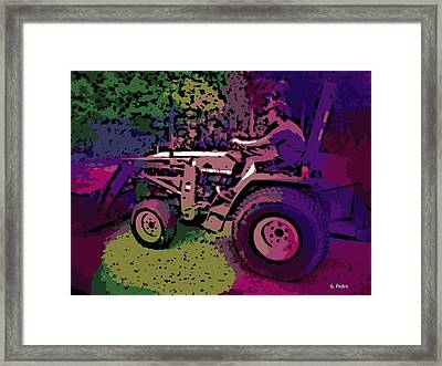 a Day on the Farm Framed Print by George Pedro