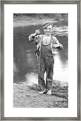 A Days Catch 1900 Framed Print by Padre Art