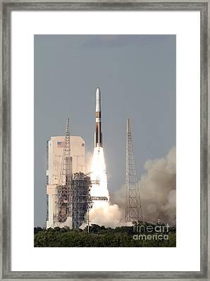 A Delta Iv Rocket Lfits Framed Print by Stocktrek Images