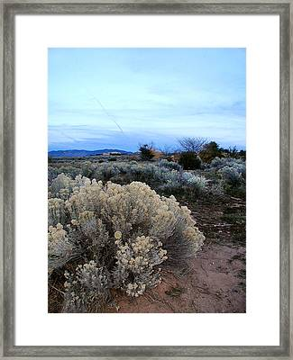 A Desert View After Sunset Framed Print