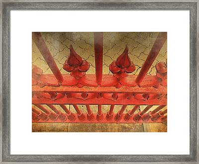 A Different Perspective On An Iron Fence Framed Print