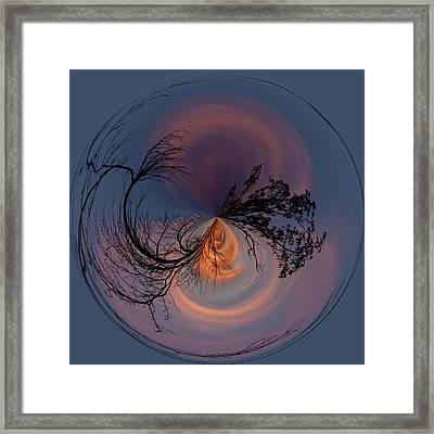 A Different Sunset Framed Print by Sandi Blood