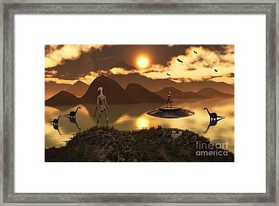A Distant Alien World Where Reptoids Framed Print by Mark Stevenson
