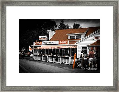 A Door County Institution Since 1906 Framed Print
