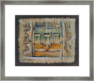 A Door In Compostela1982 Framed Print by Glenn Bautista