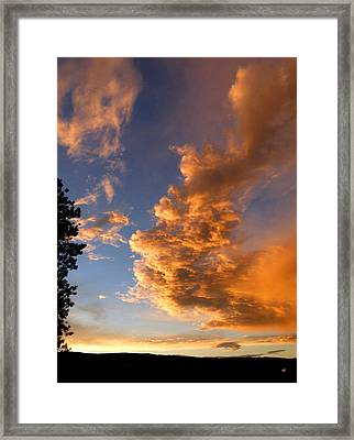 A Dramatic Summer Evening 1 Framed Print by Will Borden