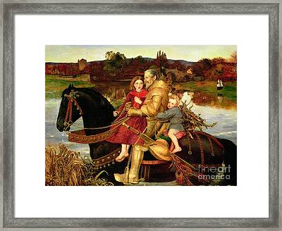 A Dream Of The Past Framed Print by Sir John Everett Millais