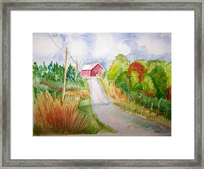 A Drive In The Country Framed Print by Belinda Lawson