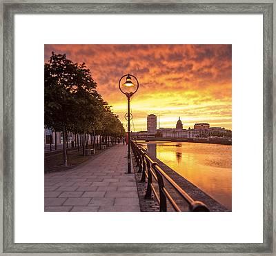 A Dublin Sunset Framed Print by Brendan O Neill