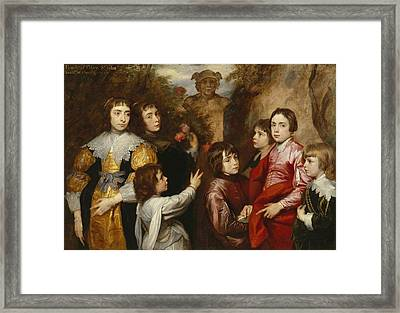 A Family Group Framed Print by Sir Anthony van  Dyck
