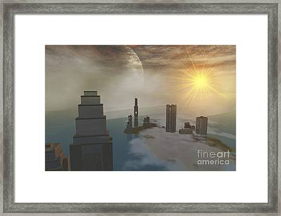 A Fantasy Science Fiction World Framed Print