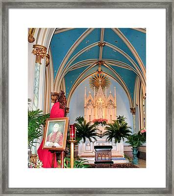 A Farewell To Pope John Paul II Framed Print by Kristin Elmquist