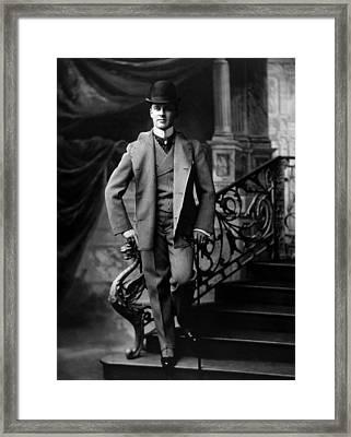 A Fashionably Dressed Man, Circa 1895 Framed Print