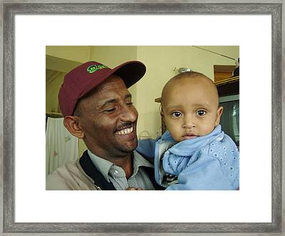 Framed Print featuring the photograph A Father's Pride And Joy by Laurel Talabere