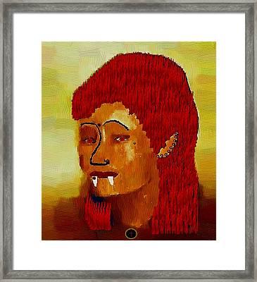 A Female Modern Vampire Framed Print by Pepita Selles