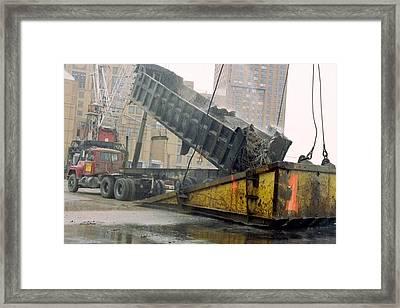 A Few Blocks From Ground Zero A Truck Framed Print