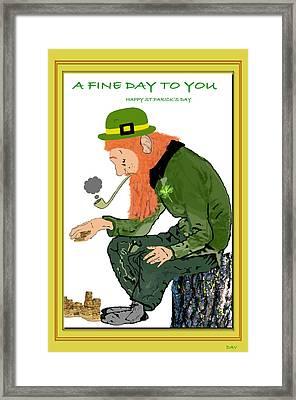 A Fine Day To You Card Framed Print by Debra     Vatalaro