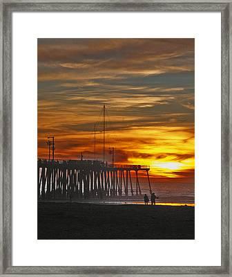 A Firey Sunset- Pismo Beach Framed Print