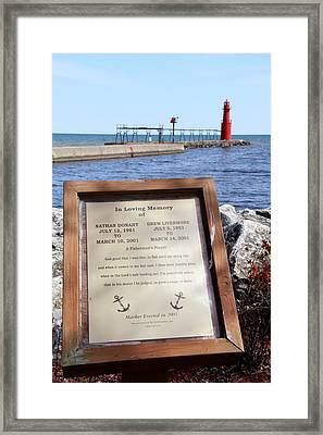 A Fisherman's Prayer At Algoma Lighthouse Framed Print by Mark J Seefeldt