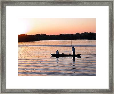 A Fisherman's Story Framed Print