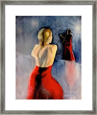 Framed Print featuring the painting A Flamenco Dancer  3 by Yoshiko Mishina