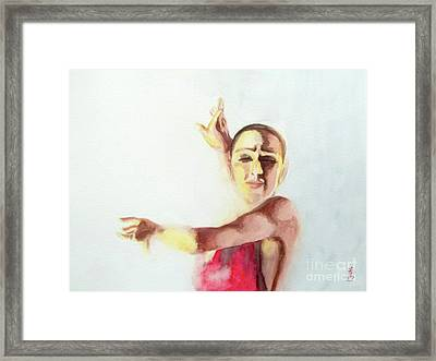 Framed Print featuring the painting A Flamenco Dancer by Yoshiko Mishina