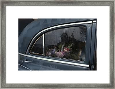 A Floral Arrangement Seen Framed Print by Sam Abell