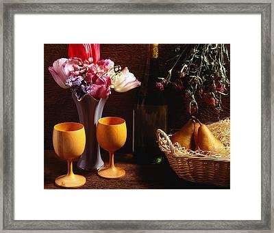 A Floral Display Framed Print by David Chapman