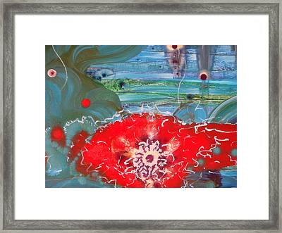 A Flower Heart Framed Print by Mudrow S
