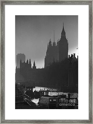 A Foggy Day In London Framed Print by Aldo Cervato
