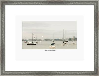 A Foggy Day On The River Framed Print by Tom York Images