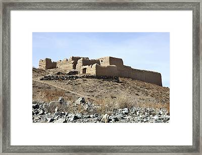 A Fortified Compound In The Village Framed Print