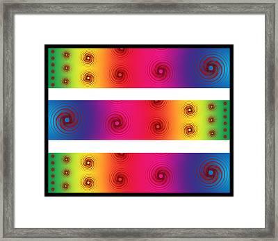 A Fractal Spectrum Framed Print