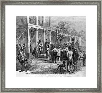A Freedman In Monticello, Florida Framed Print