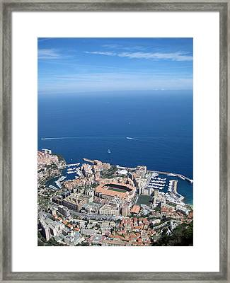 A French View Of The Mediterranean Framed Print by Chris Ann Wiggins