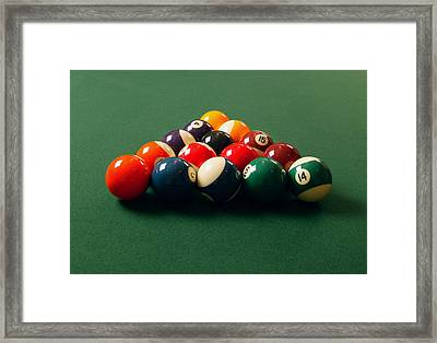 A Fresh Game Of Pool Framed Print by Design Pics