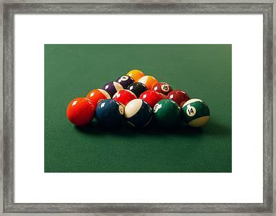 A Fresh Game Of Pool Framed Print