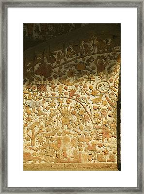 A Frieze In The Moche Period Framed Print by Nigel Hicks