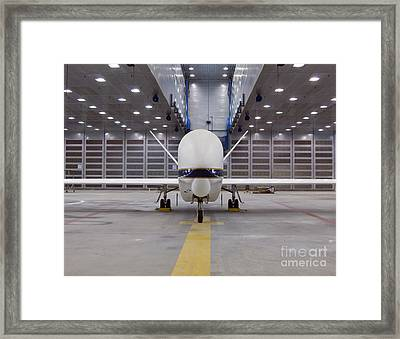 A Front View Of A Global Hawk Unmanned Framed Print by Stocktrek Images
