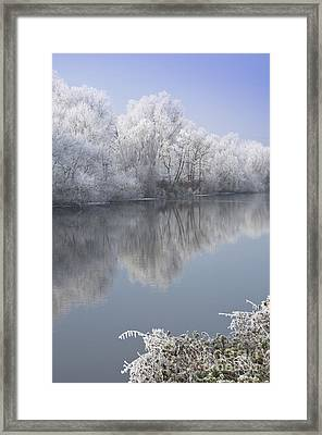 A Frosty River Severn Framed Print by Andrew  Michael