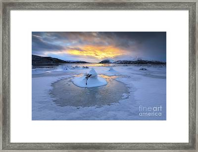 A Frozen Fjord That Is Part Framed Print