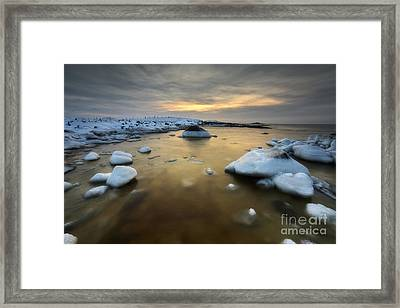 A Frozen, Rusty Bay On Andoya Island Framed Print by Arild Heitmann